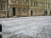 Sztuczny śnieg, Stare Miasto w Warszawie.