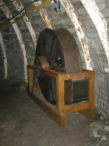 Wentylator odśrodkowy, model edukacyjny dla Muzeum Górnictwa Węglowego Zabrze.