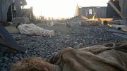 Niemiecki obóz jeniecki po bombardowaniu, film The Captain / Der Hauptman
