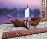 Model statku z drewna