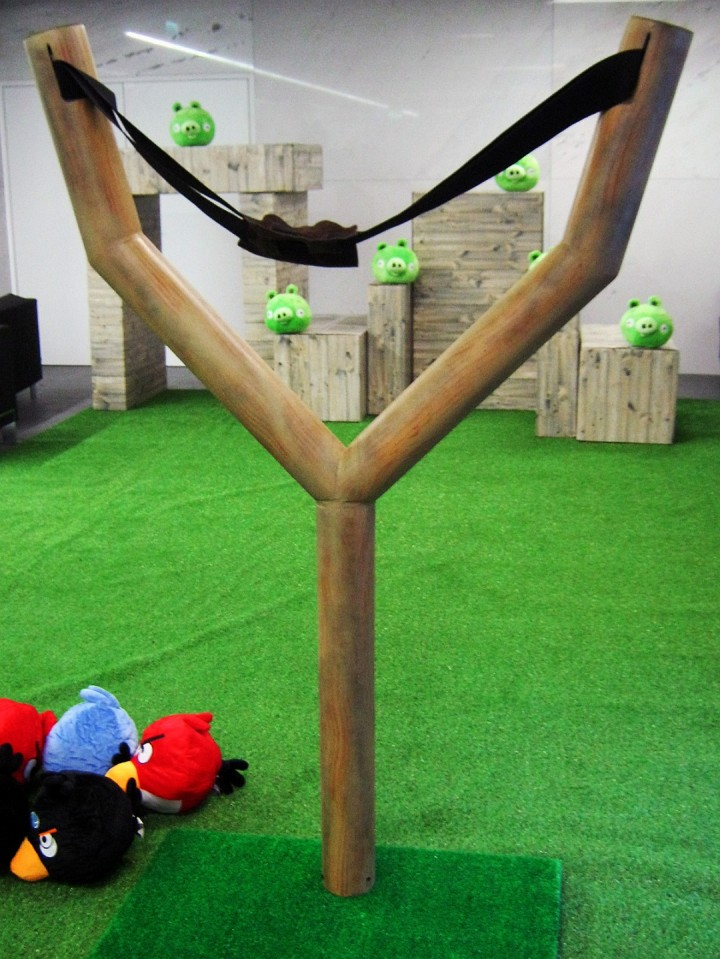 Scenografia eventowa Angry Birds