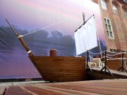 Edukacyjny model drewnianego statku