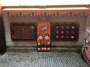 Elements of arrangement of the courtyard of the Toruń Gingerbread Museum - maze and memory games.